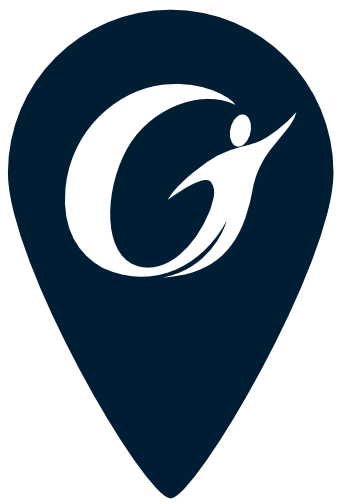 Blue Gorham Savings bank logo map pin icon