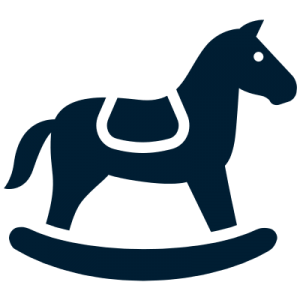 blue rocking horse icon