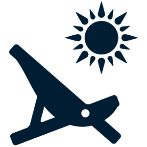 blue chair with sun icon