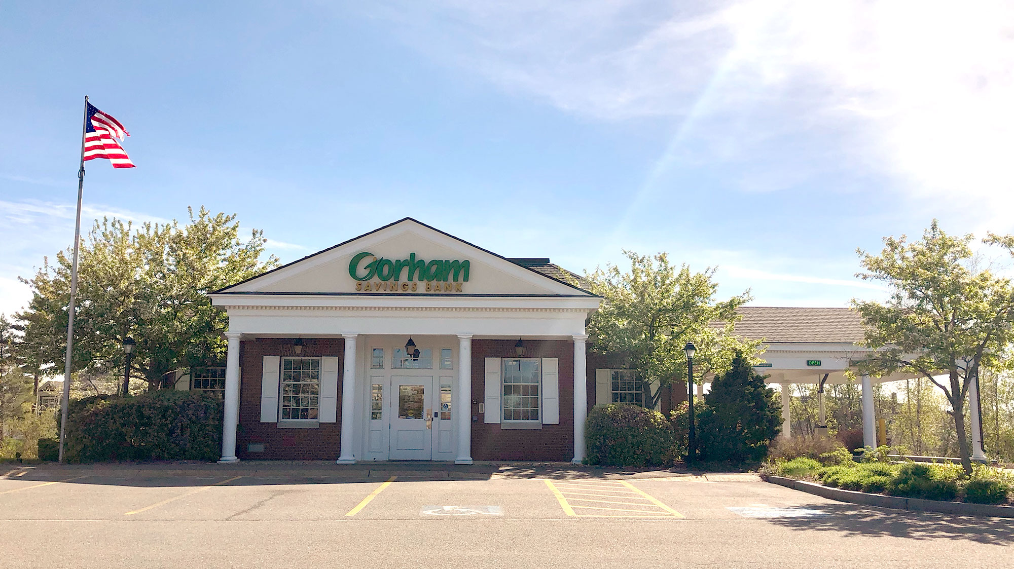 Gorham Savings Bank Scarborough location outside during the day