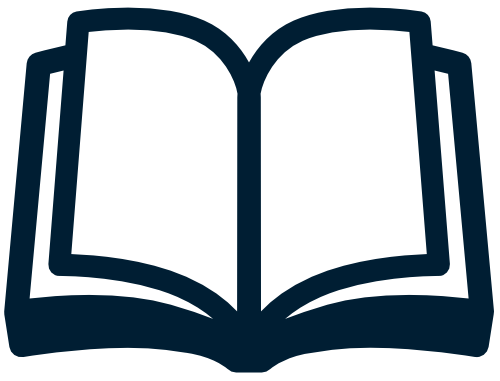 Blue open book transparency icon