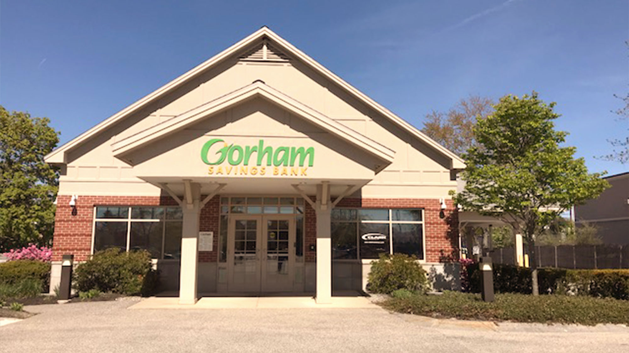 Gorham Savings Bank Windham location outside during the day