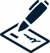 Check writing icon