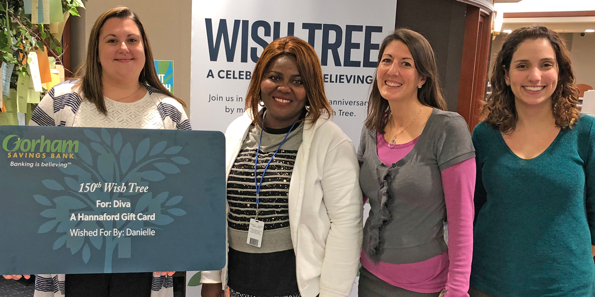 Photo of Wish Tree recipient at Gorham Branch