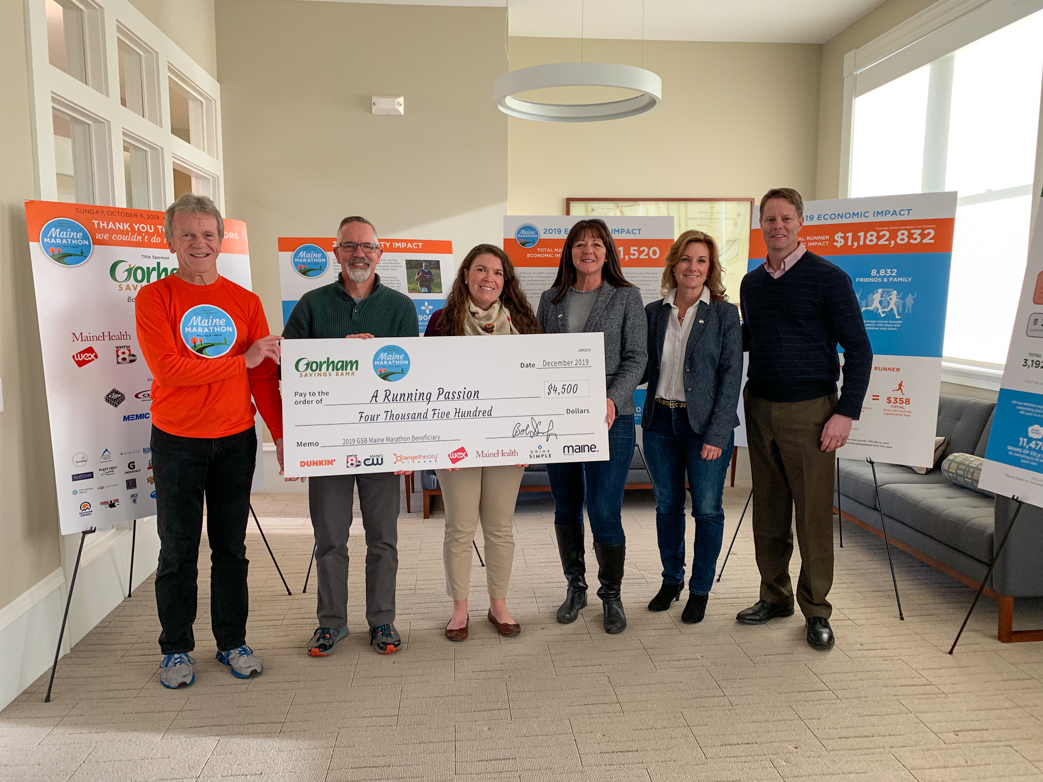 GSB Maine Marathon Delivers an Early Holiday Gift to Local Non-Profits