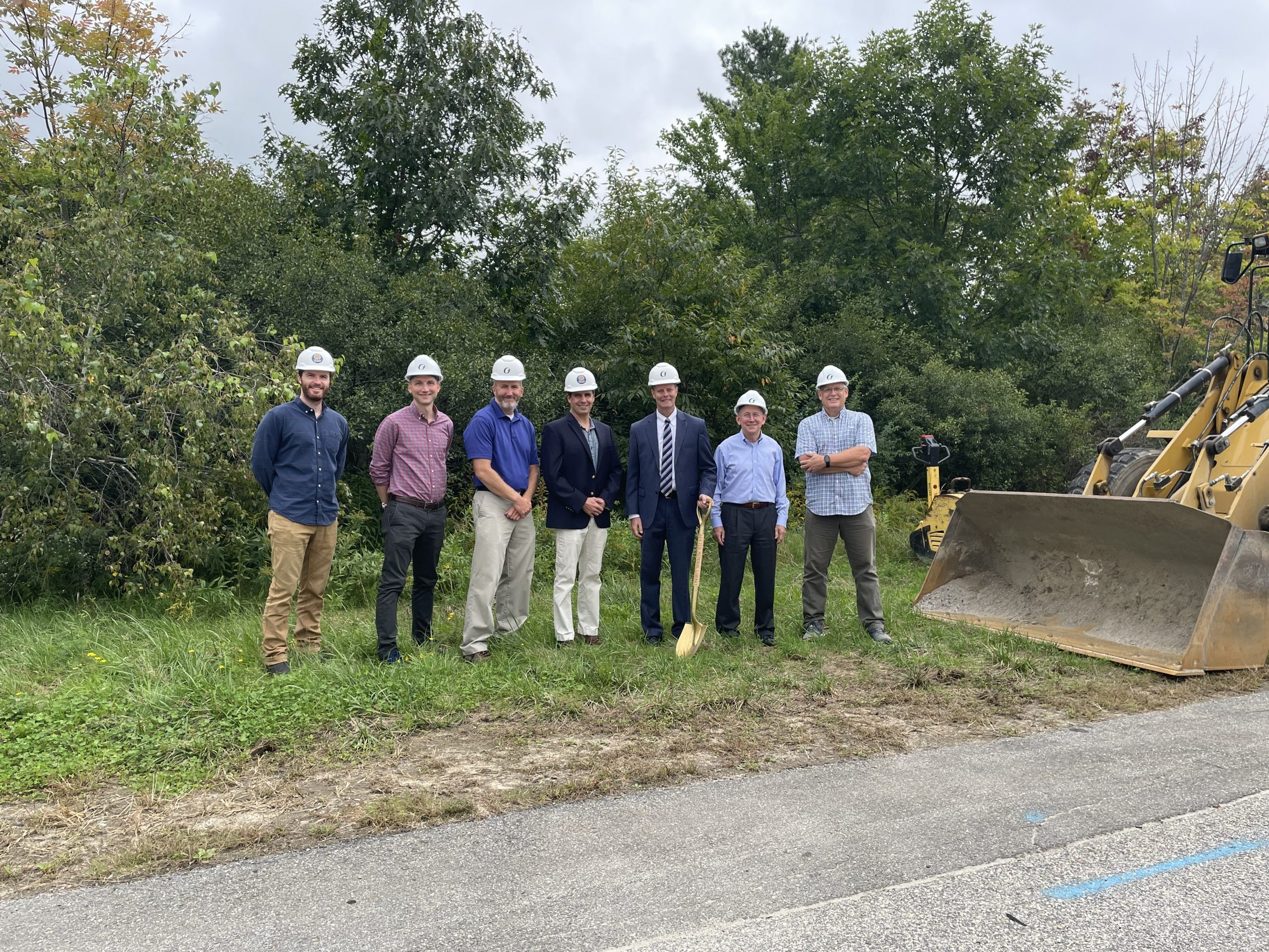 Revision Energy, Town of Gorham, and GSB at the Solar Project Groundbreaking
