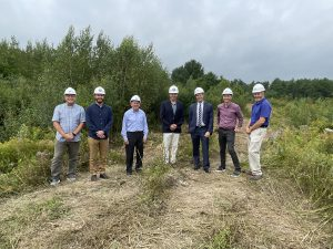 Revision Energy, Town of Gorham, and GSB at the Solar Project Site at Operations Center