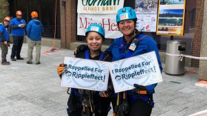 Photo of two employees at Rappel for Rippleffect