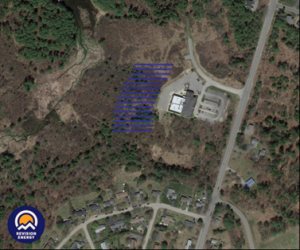 Aerial Map of GSB Solar Array at the Operations Center