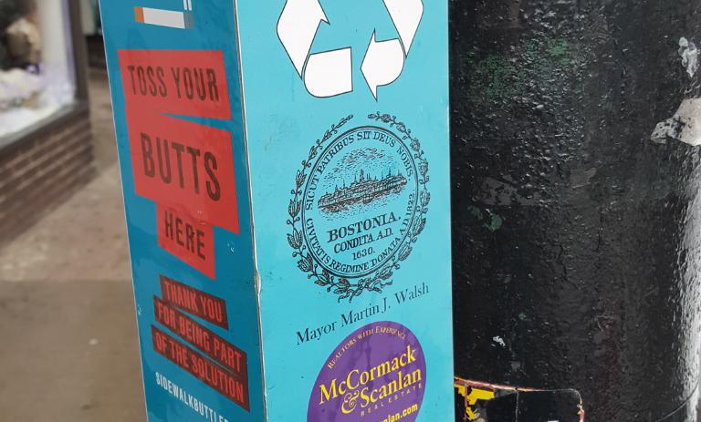 Sidewalk Buttler cigarette butt container